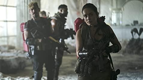 Raúl Castillo, Omari Hardwick, and Anda de la Reguera in Army of the Dead c/o Netflix
