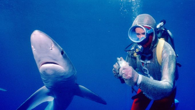 Valerie Taylor in Playing with Sharks c/o National Geographic Documentary, Disney Plus