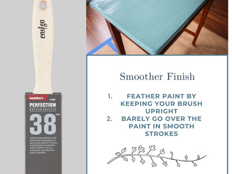 Smoother Finish With Ensign Perfection Brush