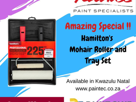 Hamilton's Special on Mohair Roller & Tray Set