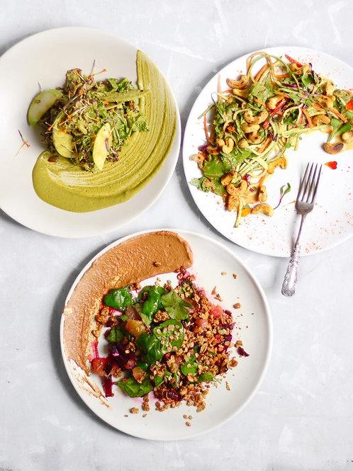 Curso online sensacionais saladas, crackers e queijos veganos