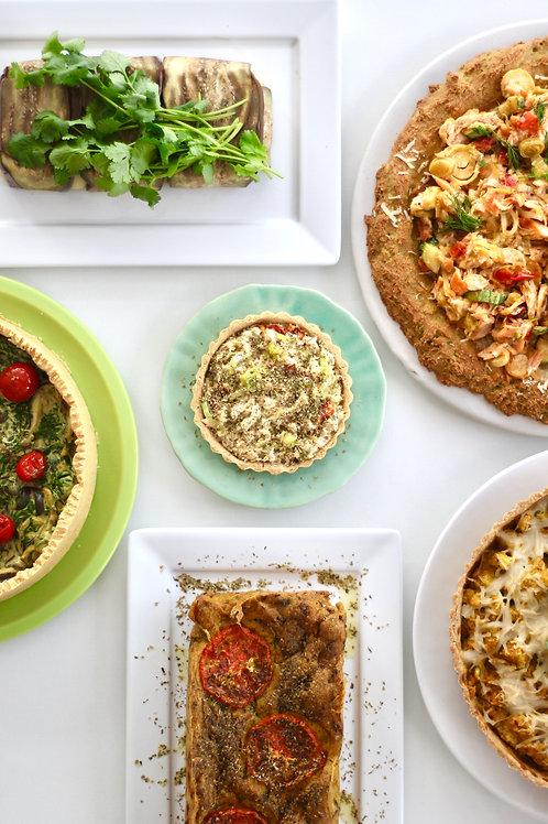 Quiches e tortas com opções veganas e low carb