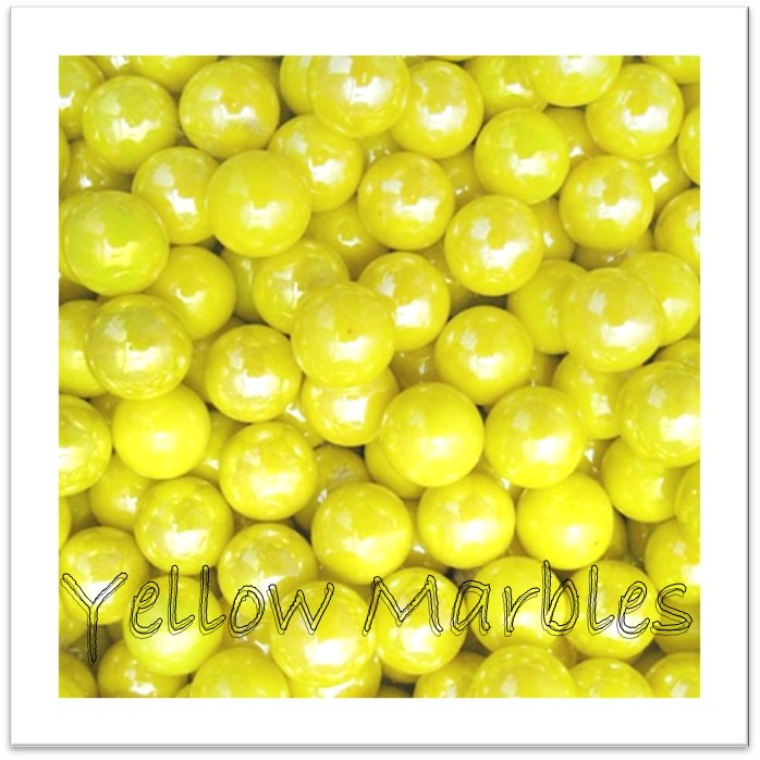 Yellow marbles - carry in your pocket