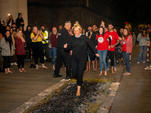 50 'brave soles' walk on fire and raise £15,000+ for Manchester!