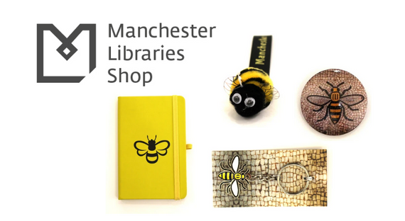 Assorted souvenirs from Manchester Central Library