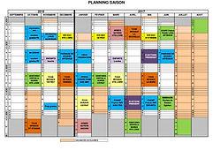 calendrier stage de l'école Thanh Long Truong Son Phaï