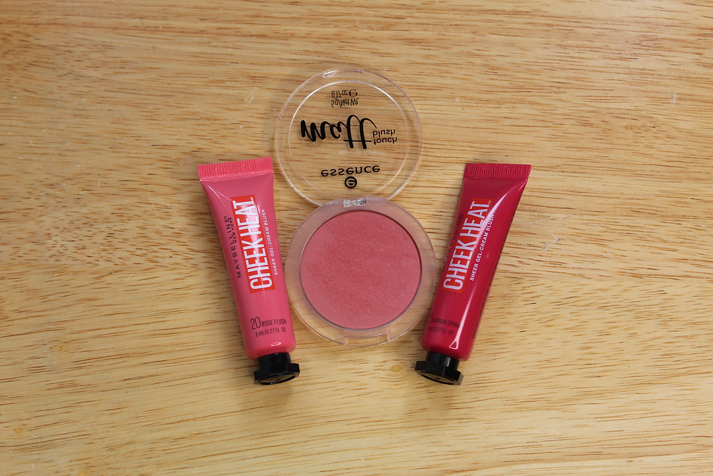 gel and powder blushes on display