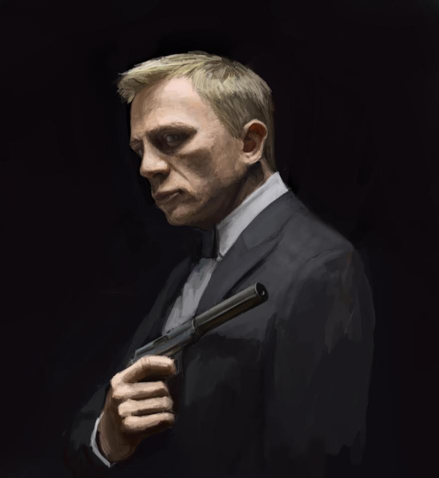 Daniel Craig 007 Study