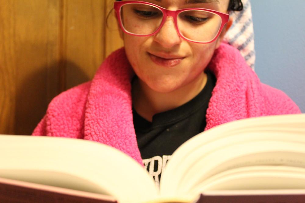 reading a good book!