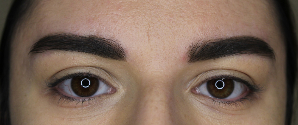 Finished eyebrows