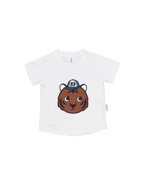 T-shirt met tijgerapplicatie
