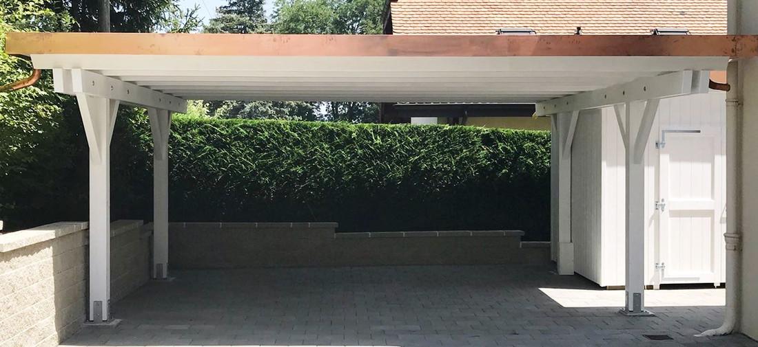 Couvert à toiture plate