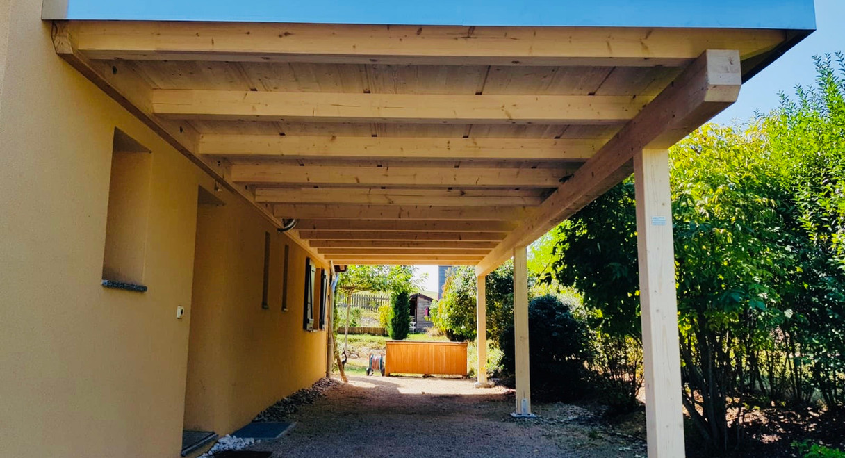 Couvert toit plat