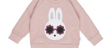 Roze trui met konijntje