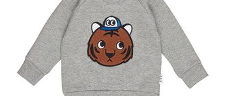 Grijze sweatshirt tijger