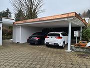 Couvert voitures toit plat