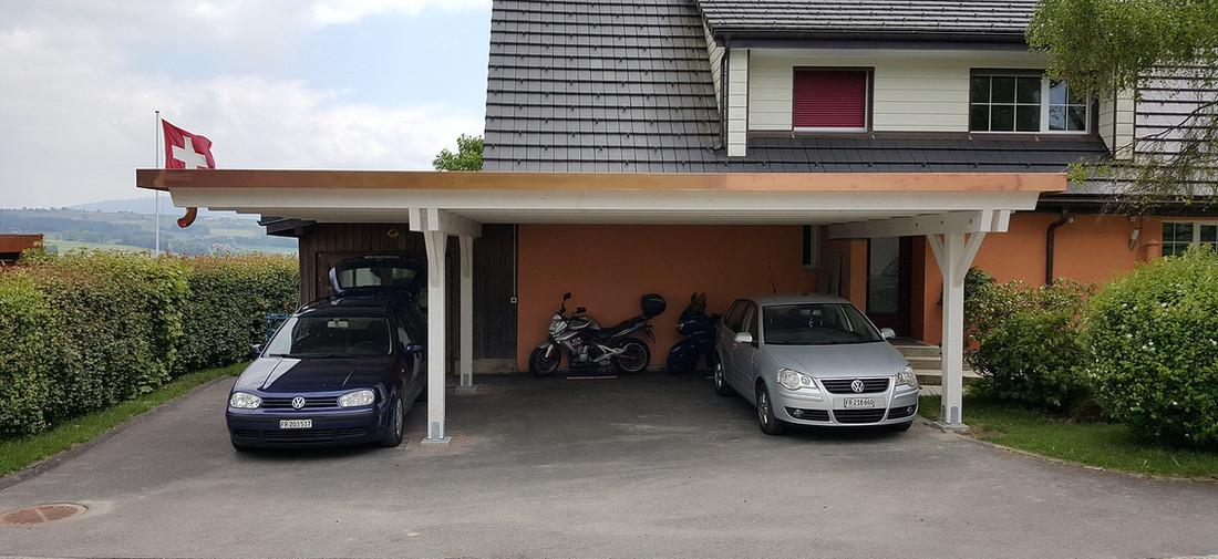Carport à toit plat