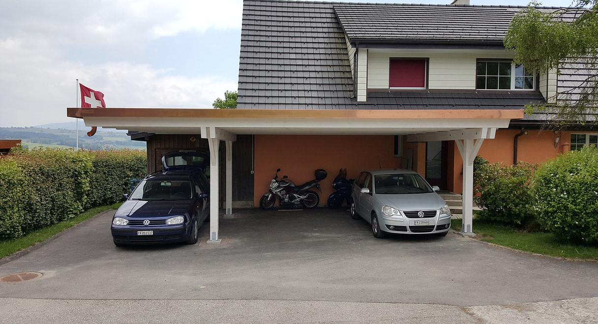 Couvert toit plat 3 places