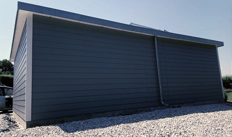 Carport à toiture plate