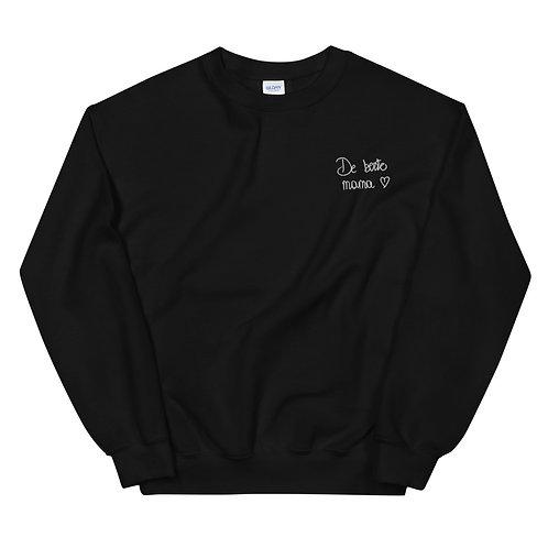 Gepersonaliseerde sweatshirt - geborduurd zwart