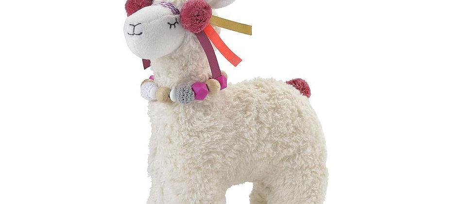 Muziekknuffel lama roze