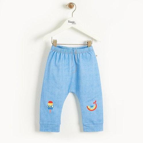 Lange broek met jeanslook