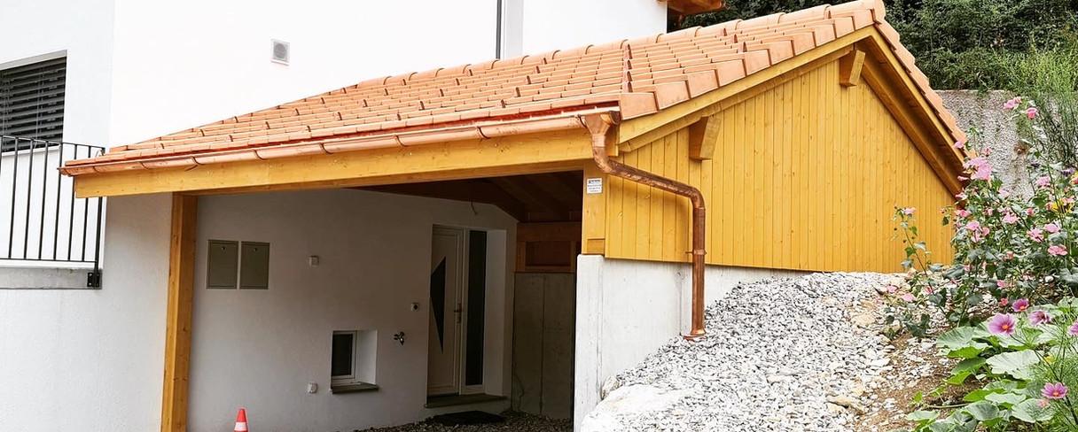 Couvert à toiture 2 pans