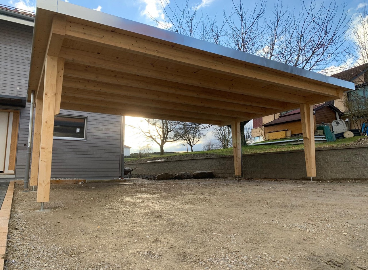 Carport toit plat