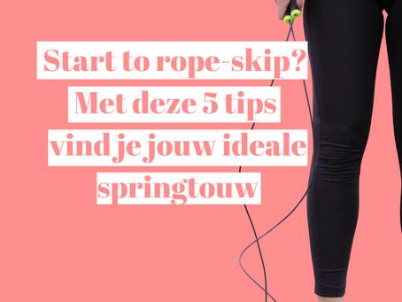 Start to rope-skip? Met deze 5 tips vind je het beste springtouw voor jou.