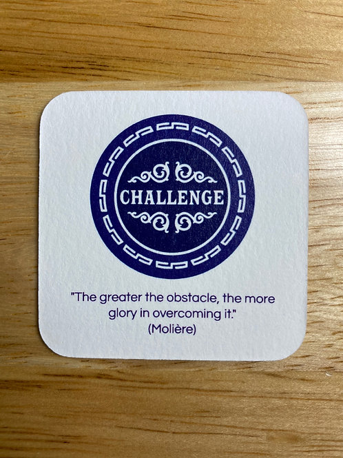 "Soteria Challenge Card - 2"" x 2"" - individual"