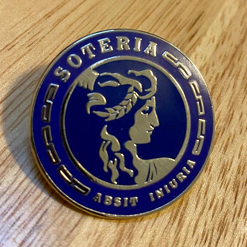 """The Soteria Society Hard Enamel Pin - 1"""" Round"""