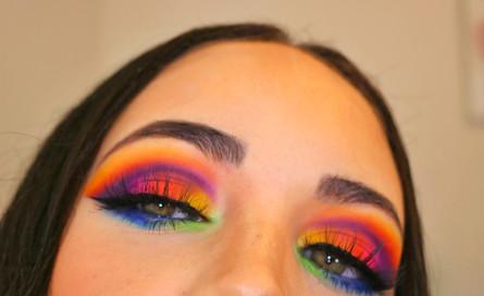 Rainbow Makeup Look