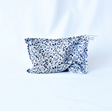 Bouillotte fleurettes bleues