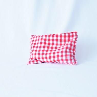 Bouillotte carreaux rouges et blancs