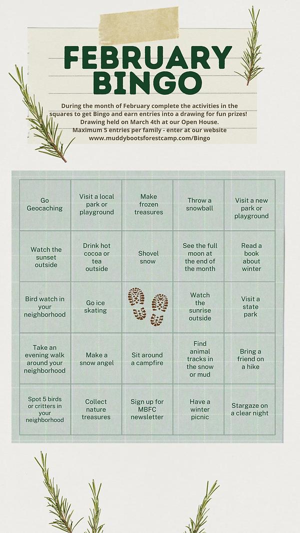 Beige and Green Refined Scrapbook Bingo