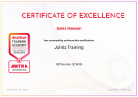 Joint Training Certificate