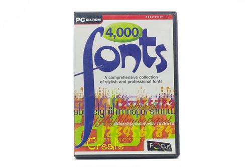 4,000 Fonts PC CD-ROM