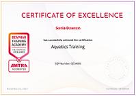 Aquatics Training Certicate