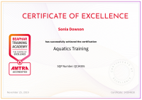 Aquatics Training Certicate