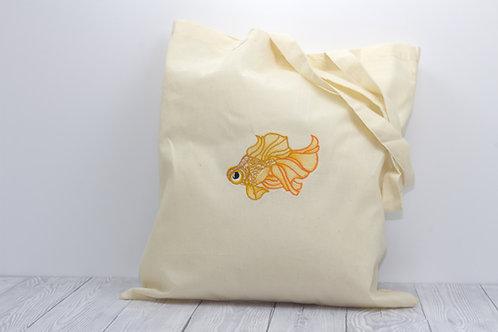 Goldfish Cotton Tote Bag