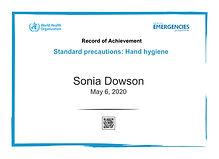 Hand Hygiene record of achievements