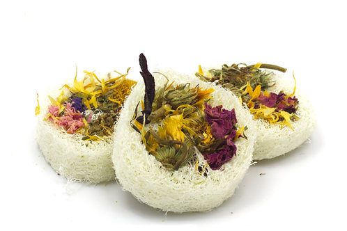Floral Loofah Slices