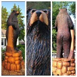 AM Sculptures- Bear Stump