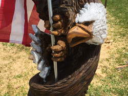 AM Sculptures- Twisted Eagle Flag