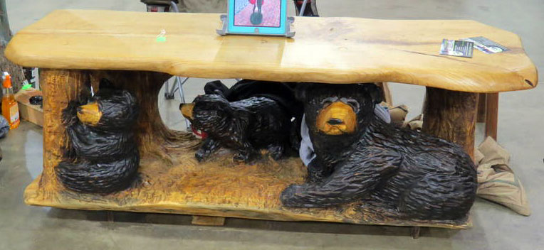AM Sculptures- Bear Table