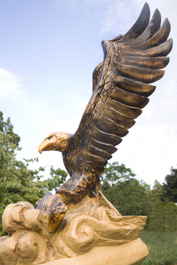 AM Sculptures- Eagle Catching a Fish