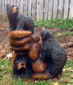 AM Sculptures- Bears on Rocks