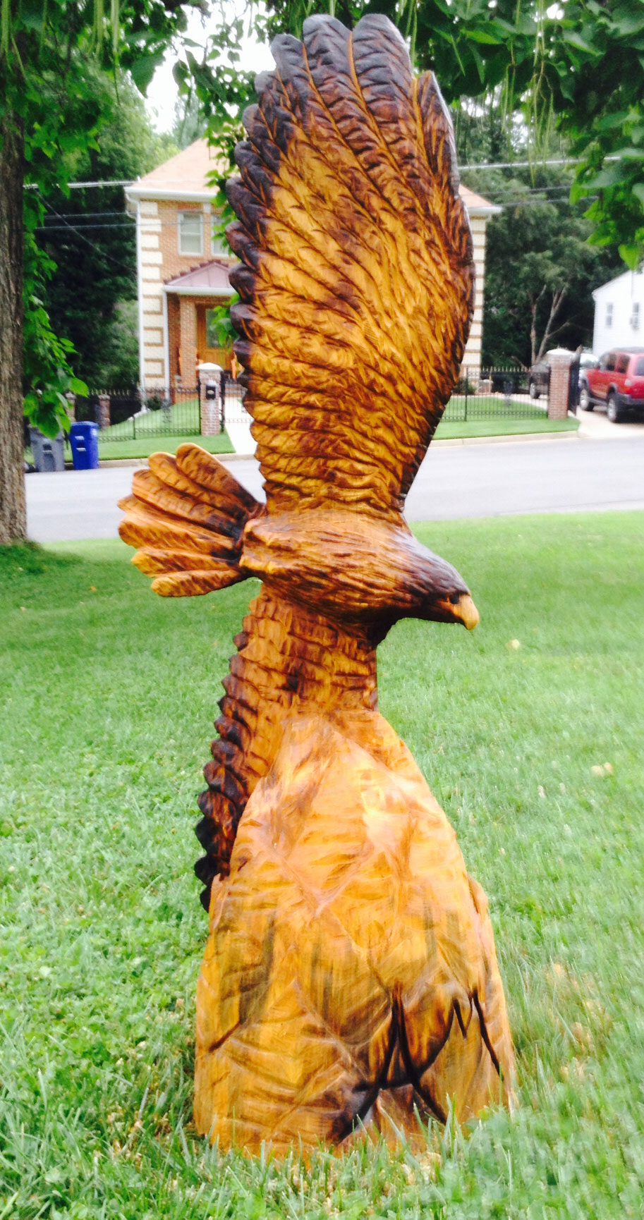 AM Sculptures- Soaring Hawk
