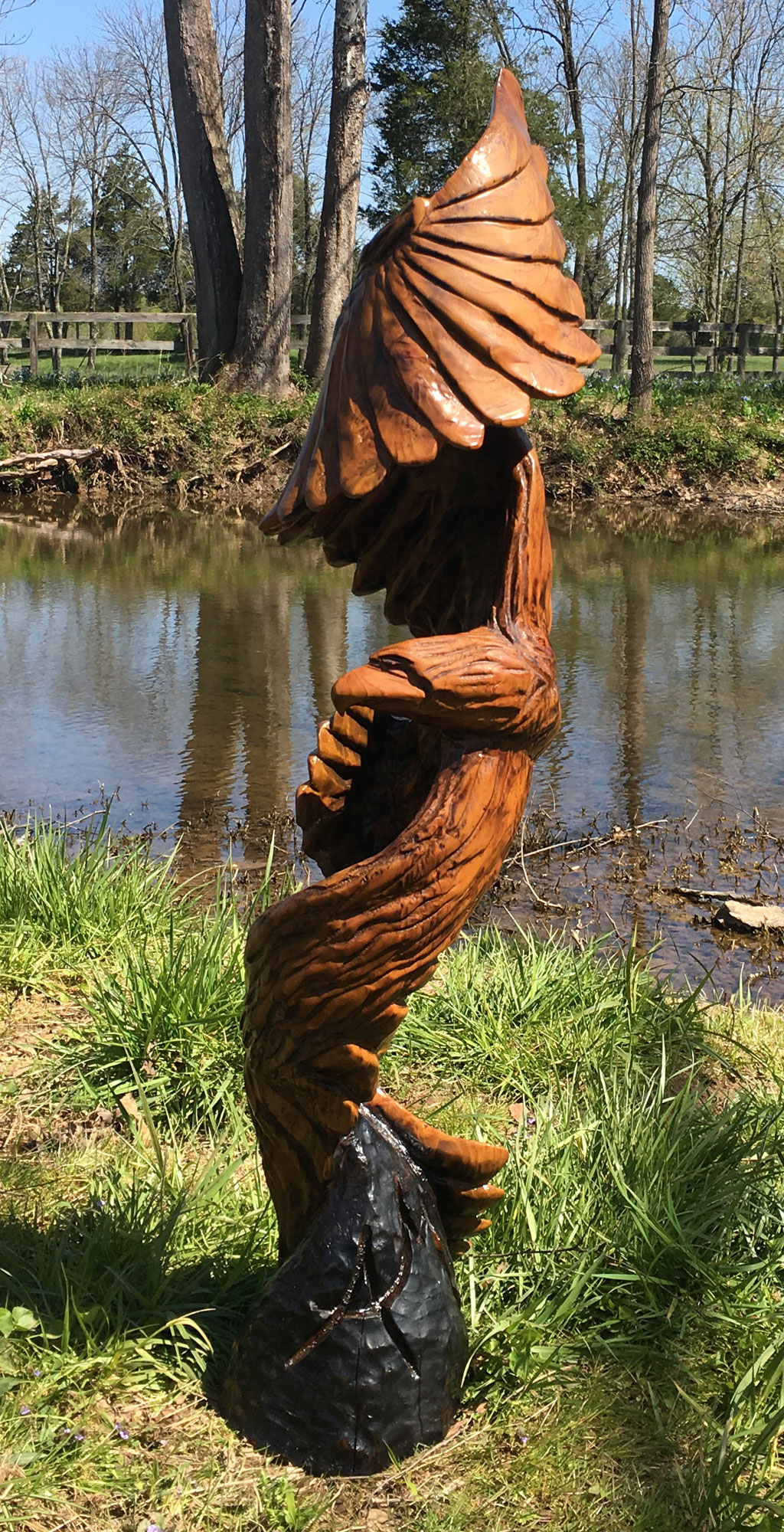 AM Sculptures- Twisted Eagle