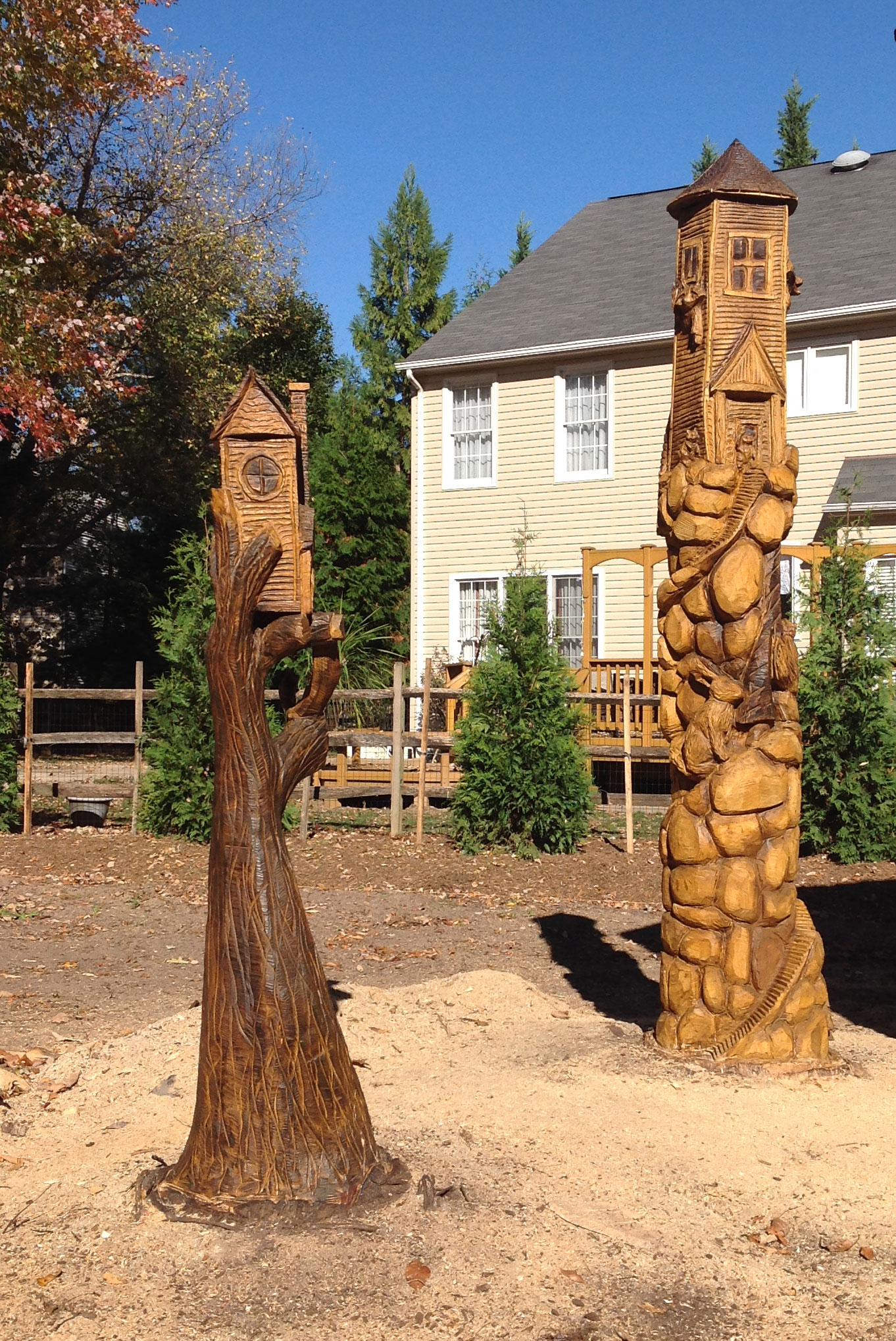 AM Sculptures- Whimsical Stumps